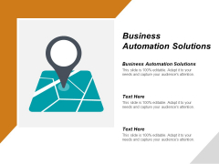 Business Automation Solutions Ppt PowerPoint Presentation Outline Summary