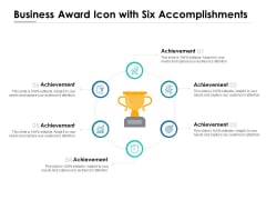 Business Award Icon With Six Accomplishments Ppt PowerPoint Presentation Gallery Guide