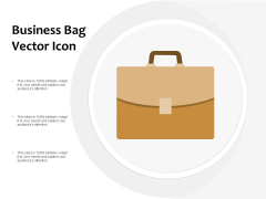 Business Bag Vector Icon Ppt PowerPoint Presentation Summary Images