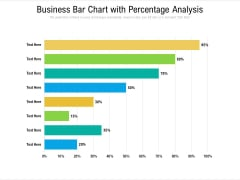 Business Bar Chart With Percentage Analysis Ppt PowerPoint Presentation File Outline PDF