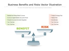 Business Benefits And Risks Vector Illustration Ppt PowerPoint Presentation File Example Topics PDF