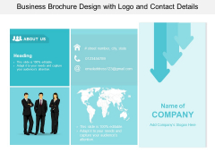 Business Brochure Design With Logo And Contact Details Ppt PowerPoint Presentation Outline Infographic Template