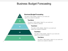 Business Budget Forecasting Ppt PowerPoint Presentation Show Aids Cpb