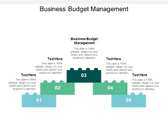 Business Budget Management Ppt PowerPoint Presentation Infographics Grid Cpb