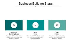 Business Building Steps Ppt PowerPoint Presentation Portfolio Graphics Tutorials Cpb