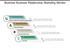 Business Business Relationship Marketing Monitor Employee Security Outsourcing Ppt PowerPoint Presentation Portfolio Graphics Template