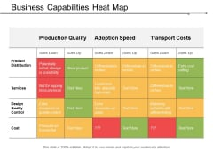 Business Capabilities Heat Map Ppt Powerpoint Presentation Files