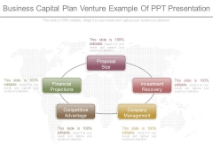 Business Capital Plan Venture Example Of Ppt Presentation