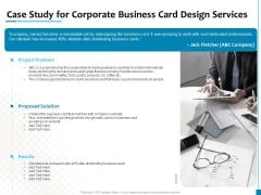 Business Card Design Services Case Study For Corporate Business Card Design Services Elements PDF