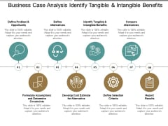 Business Case Analysis Identify Tangible And Intangible Benefits Ppt PowerPoint Presentation Layouts Microsoft