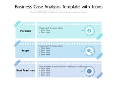 Business Case Analysis Template With Icons Ppt PowerPoint Presentation Professional Demonstration