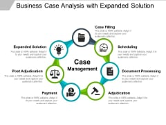 Business Case Analysis With Expanded Solution Ppt PowerPoint Presentation Gallery Sample PDF