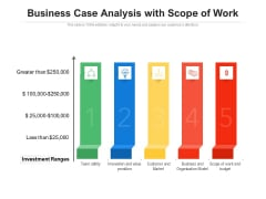 Business Case Analysis With Scope Of Work Ppt PowerPoint Presentation Icon Professional PDF