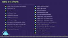 Business Case Contest Car Company Sales Deficit Table Of Contents Download PDF