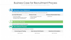 Business Case For Recruitment Process Ppt Infographic Template Graphics Example PDF