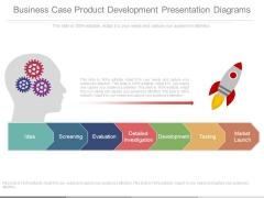 Business Case Product Development Presentation Diagrams