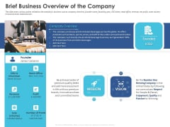 Business Case Studies Stagnant Industries Brief Business Overview Of The Company Background PDF