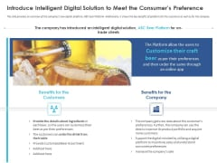 Business Case Studies Stagnant Industries Introduce Intelligent Digital Solution To Meet The Consumers Preference Pictures PDF