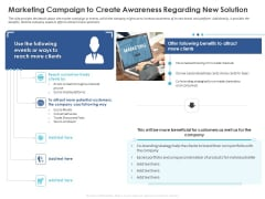 Business Case Studies Stagnant Industries Marketing Campaign To Create Awareness Regarding New Solution Clipart PDF