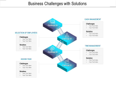 Business Challenges With Solutions Ppt PowerPoint Presentation Outline Files