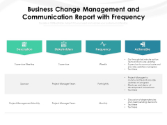 Business Change Management And Communication Report With Frequency Ppt PowerPoint Presentation File Pictures PDF
