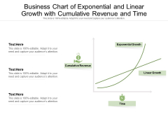 Business Chart Of Exponential And Linear Growth With Cumulative Revenue And Time Ppt PowerPoint Presentation Professional Graphic Images PDF