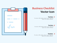 Business Checklist Vector Icon Ppt PowerPoint Presentation File Backgrounds