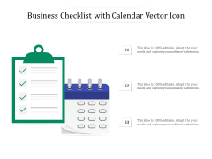 Business Checklist With Calendar Vector Icon Ppt PowerPoint Presentation File Guide PDF