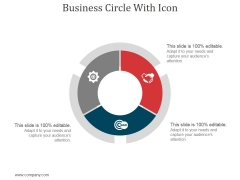 Business Circle With Icon Ppt PowerPoint Presentation Show