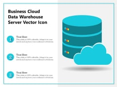 Business Cloud Data Warehouse Server Vector Icon Ppt PowerPoint Presentation Examples PDF