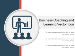 Business Coaching And Learning Vector Icon Ppt PowerPoint Presentation Professional Outline PDF