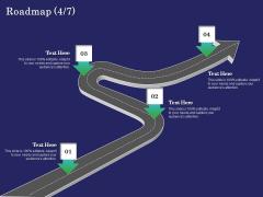 Business Coaching Roadmap Four Process Flow Ppt PowerPoint Presentation Outline Design Templates PDF
