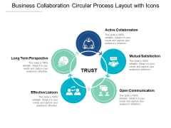 Business Collaboration Circular Process Layout With Icons Ppt PowerPoint Presentation Layouts Samples