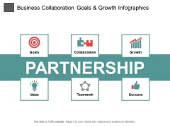 Business Collaboration Goals And Growth Infographics Ppt PowerPoint Presentation Layouts Elements