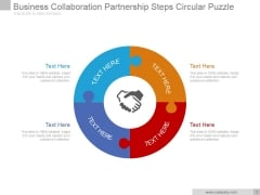 Business Collaboration Partnership Steps Circular Puzzle Ppt PowerPoint Presentation Images