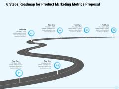 Business Commodity Market KPIS 6 Steps Roadmap For Product Marketing Metrics Proposal Designs PDF