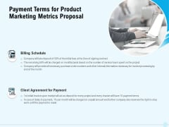 Business Commodity Market KPIS Payment Terms For Product Marketing Metrics Proposal Introduction PDF