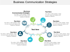 Business Communication Strategies Ppt PowerPoint Presentation Professional Guidelines Cpb
