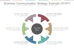 Business Communication Strategy Example Of Ppt