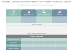 Business Communications Management Plan Template Powerpoint Graphics