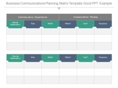 Business Communications Planning Matrix Template Good Ppt Example