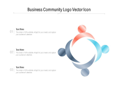 Business Community Logo Vector Icon Ppt PowerPoint Presentation File Good PDF
