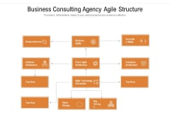 Business Consulting Agency Agile Structure Ppt Powerpoint Presentation Gallery Example Topics Pdf