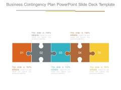 Business Contingency Plan Powerpoint Slide Deck Template