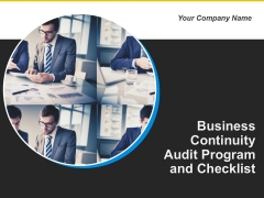 Business Continuity Audit Program And Checklist Ppt PowerPoint Presentation Complete Deck With Slides