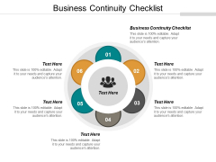 Business Continuity Checklist Ppt PowerPoint Presentation Portfolio Deck Cpb