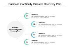 business continuity disaster recovery plan ppt powerpoint presentation slides graphics example cpb