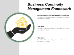 Business Continuity Management Framework Ppt PowerPoint Presentation Infographic Template Visual Aids Cpb