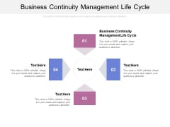 Business Continuity Management Life Cycle Ppt PowerPoint Presentation Styles Format Cpb