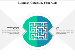 Business Continuity Plan Audit Ppt PowerPoint Presentation Inspiration Sample